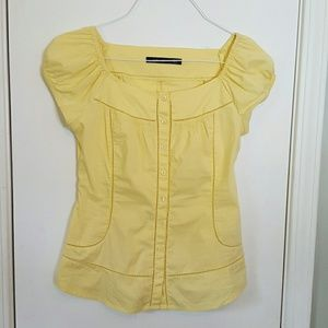 Pastel Yellow Embroidered Blouse